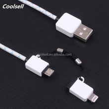 Durable 2 in 1 USB Charging Cable, Nylon Braided 2 in 1 Cables for all android smart phone
