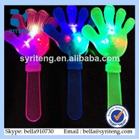 New design large colorful flash hands luminous hand pat fluorescence clap light-emitting toys