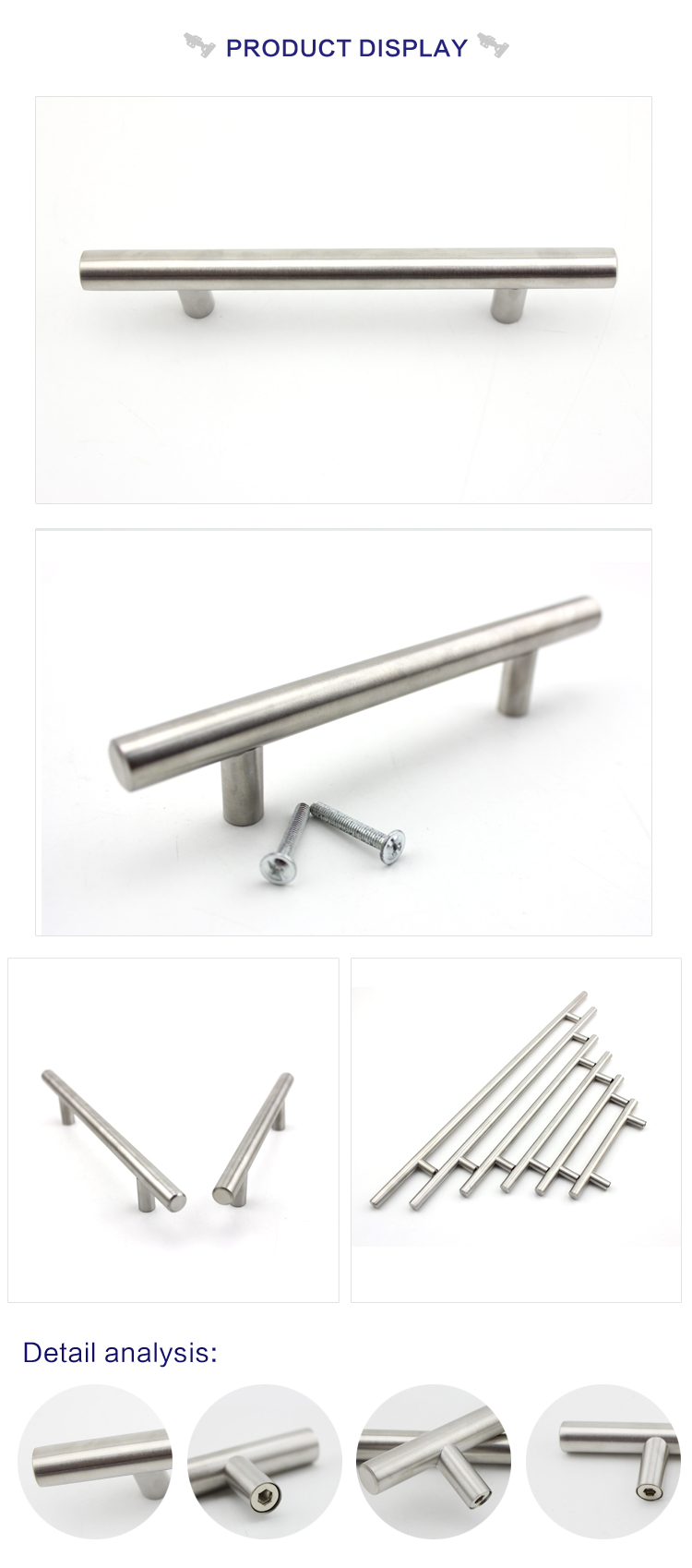manufacturer supplier customized aluminum cabinet pulls door pull handle kitchen cabinet handle