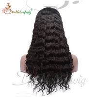 Double leaf wig best seeling high quality deep wave Fashion indian human hair full lace wig with baby hair