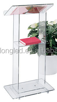 Tall Clear Stable Acrylic Lectern Platform