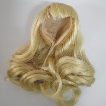 curly doll hair wigs of human hair