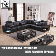 Top genuine Italian <strong>modern</strong> leather sectional sofa buy from China