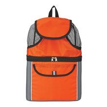 Promotional Back Cooler Polyester 2 Compartments Backpack Lunch Bag