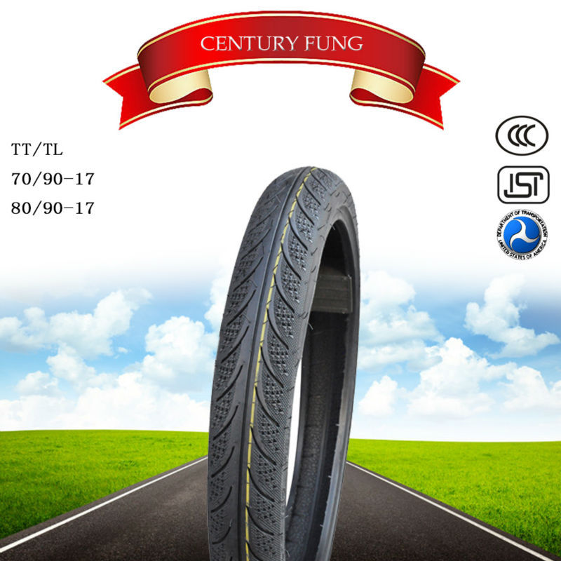 Best china brand century fung tire motorcycle tyre80/90-17 mrf tyres