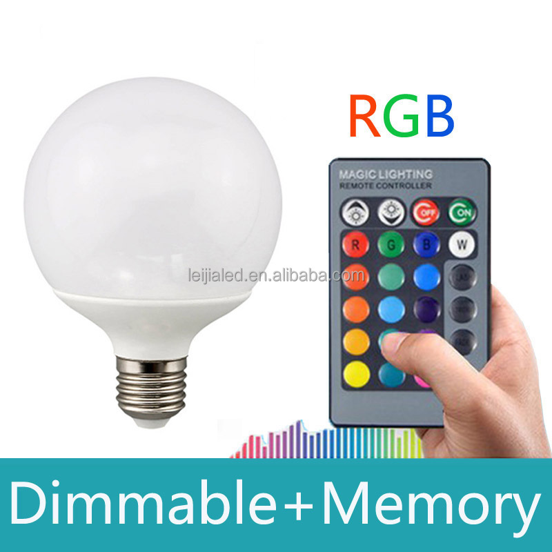 10W E27 RGB LED Bulb 16 colors change with remote control LED Spot Light Lamp