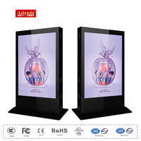 Asianda 70 inch touch screen advertising player digital signage usb/sd player outdoor lcd advertising player