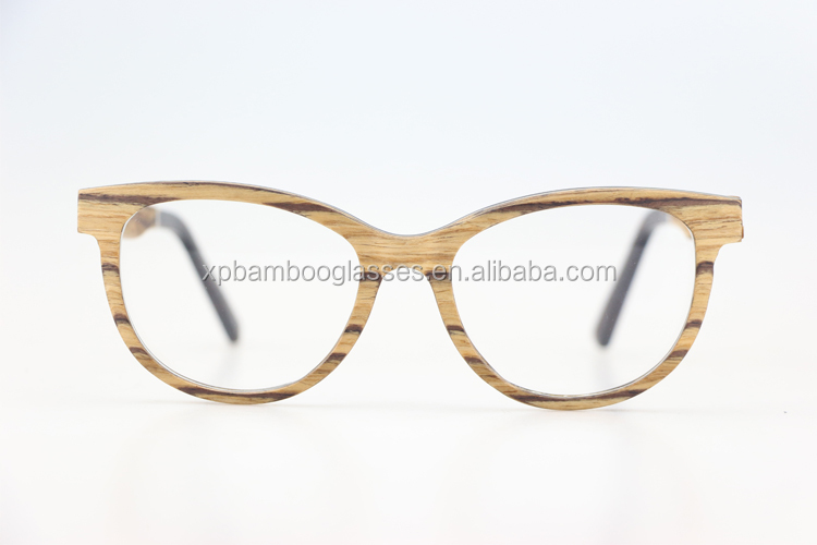 wholesale custom hand polished fake designer ce zebra reading glasses without nose pads