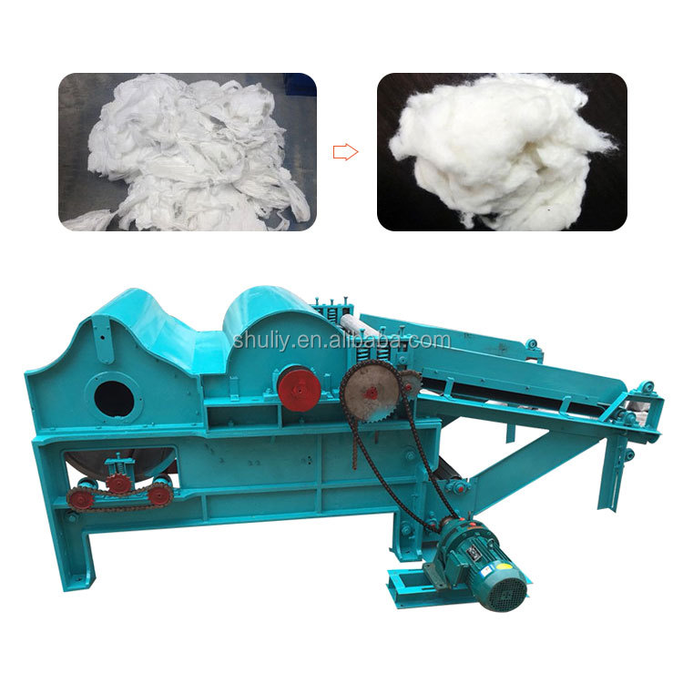 Automatic fabric polyester fiber opening machine cotton opening and clearing machine with PLC controlled