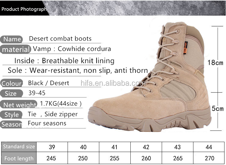 Factory direct men kenya used delta force desert tactical army combat military boots