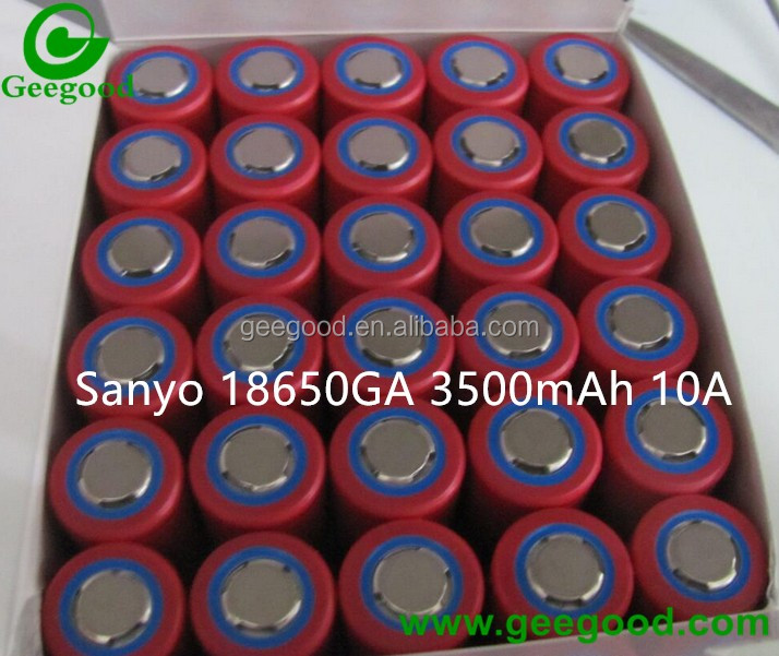 Sanyo 18650GA 3500mAh 10A 3C power battery