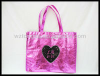 Cover color light film non woven shopping bag(WZ5701)