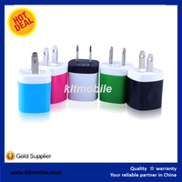 Mini colorful US plug wall 5v 1a usb charger for smart phone