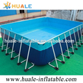 popular top quality best way metal frame swimming pool set, above ground swimming pool