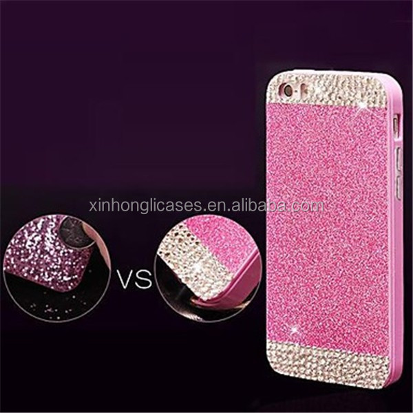 Solid Luxury Bling Glitter Back Cover Case with Diamond for iPhone 6