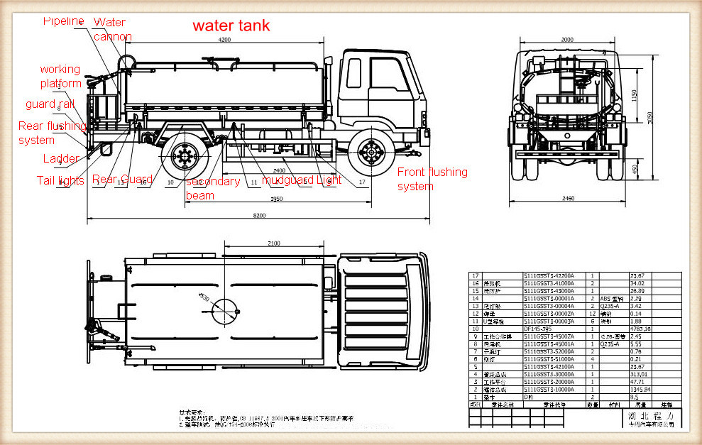 Foton 6000 Liters New Water Tank Truck For Sale With