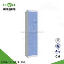 Chinese 4 compartments vertical metal wardrobe closets locker