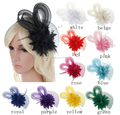 Feather flower tulle flower Hair Sticks Wedding Hair Headband Bridal Hair accessories