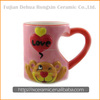 Cartoon animal hand-painted 3D mug with figurine inside