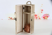 paulownia wood wine box for single bottle