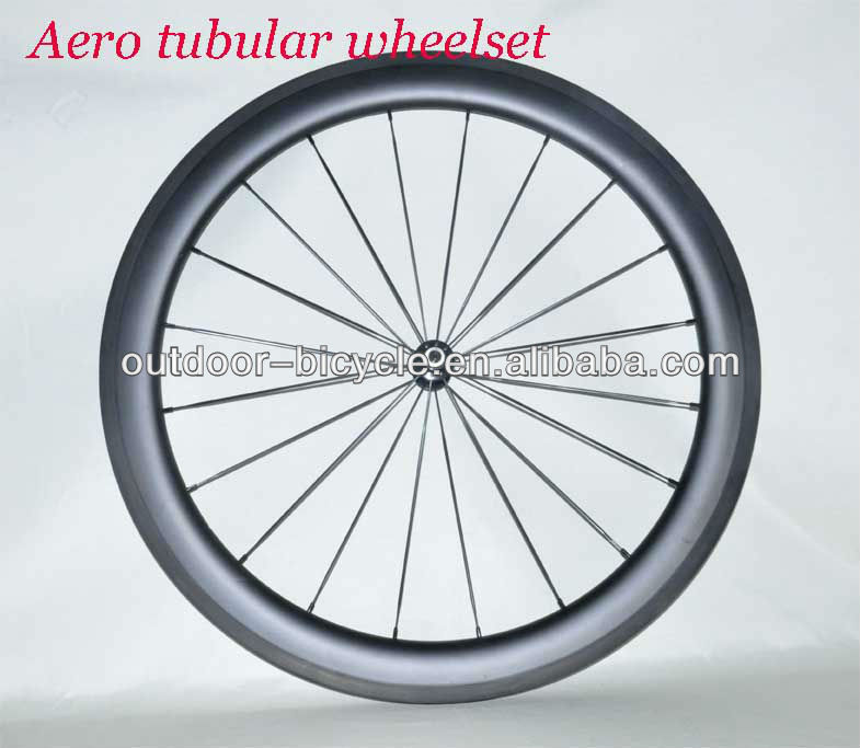 Super light T800 carbon wheel tubular 56mm/carbon 700C wheel race