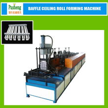 PUSHENG CNC control metal stud channel roll forming machine with hydraulic cutter