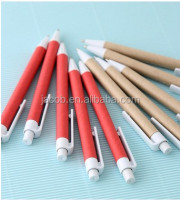 paper pen,kraft pen,recycled pen print customize logo 100pcs free shipping