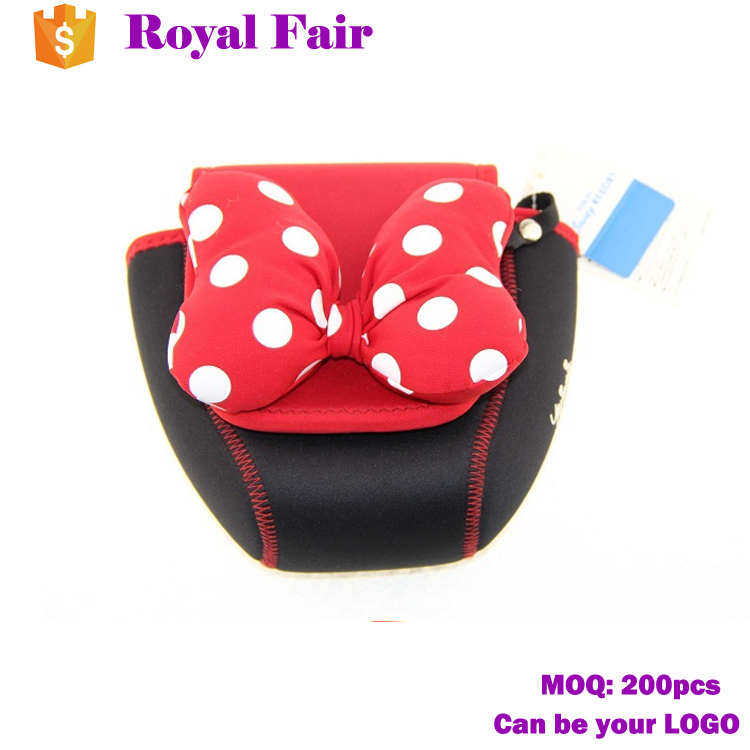 Lovely design neoprene cosmetic polka dot bag