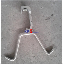 Cattle Sheep slaughtering Accessorial Equipment used for Small accessories of High Strength A-alloy Tube Rail Double Pulley Hook