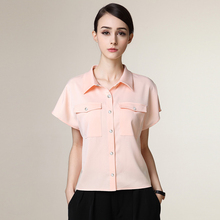 2016 Fashionable Short Sleeve Latest Shirt Designs For Women