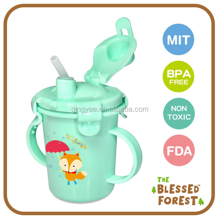 SUS304 Baby Straw Sippy Cup 230ML