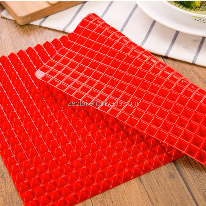Best Baking Mat,Silicone Non-stick Healthy Heat Resistant Raised Pyramid Silicone Cooking Roasting Barbecue Pastry Grill mat