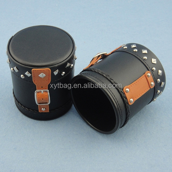 High Quality Stitching Leather Custom Dice Cups