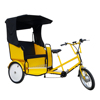 ZZMERCK Commercial Renting 3 Passengers Electric Pedicab Rickshaw, Electric Pedal Assist 3 Wheel Touring Tricycle Bike Taxi