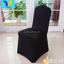 China wholesale hotel wedding party polyester black banquet spandex chair cover