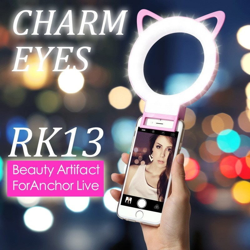 Selfie Portable Flash LED Camera Phone Photography Ring Light Selfie Ring Light for iPhone 6 6 Plus 7 7 Plus with Retail Packing