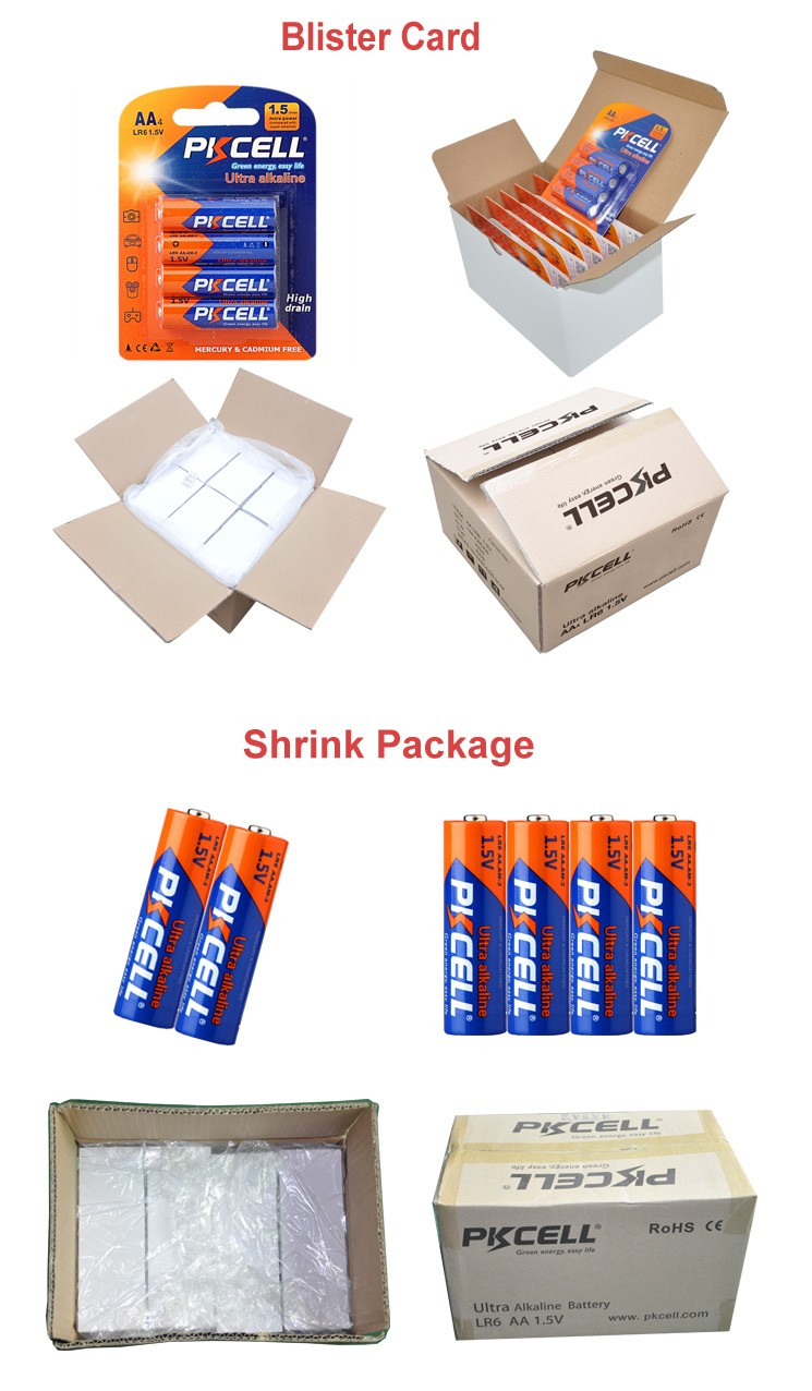 Wholesale aa 1.5v lr6 am3 alkaline battery from Pkcell
