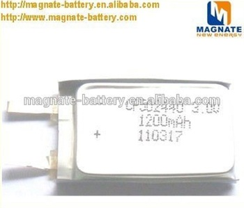 CP502440 ultra thin cell battery with molex connector