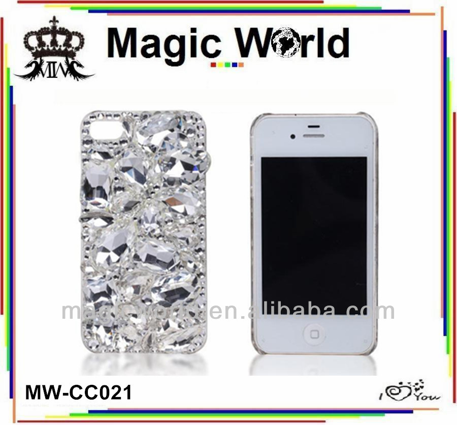 crystal cellphone cover for iphone 6