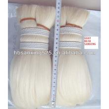 20-51mm goat hair, long goat hair , washed and be treatment white color