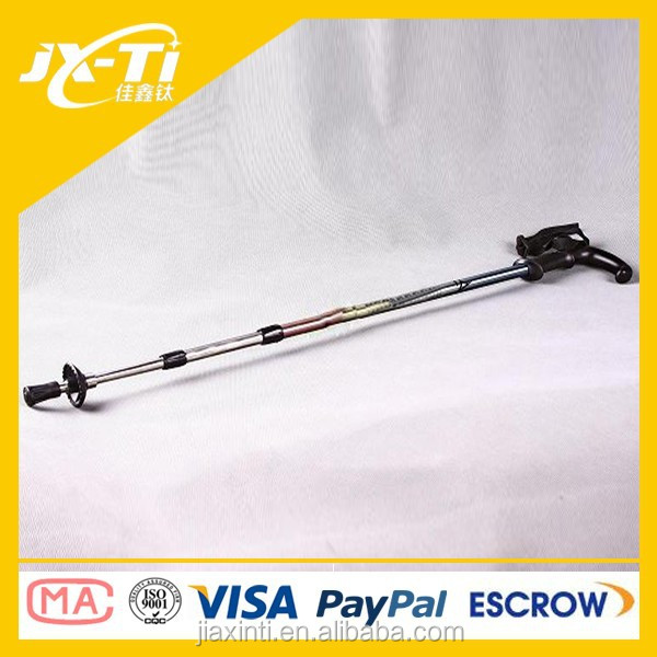 Fashion Outdoor Titanium Walking Stick Handstick Scalable Cane Alpenstock