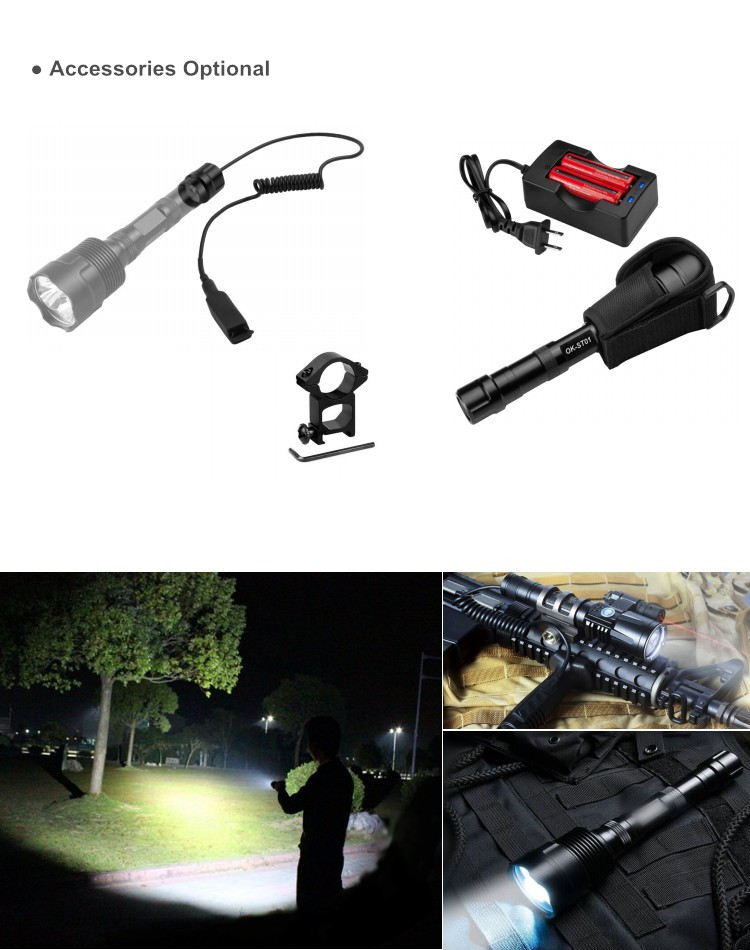 High Power 3000Lumen Rechargeable 3 XML Cree Flashlight LED T6 for Camping Light
