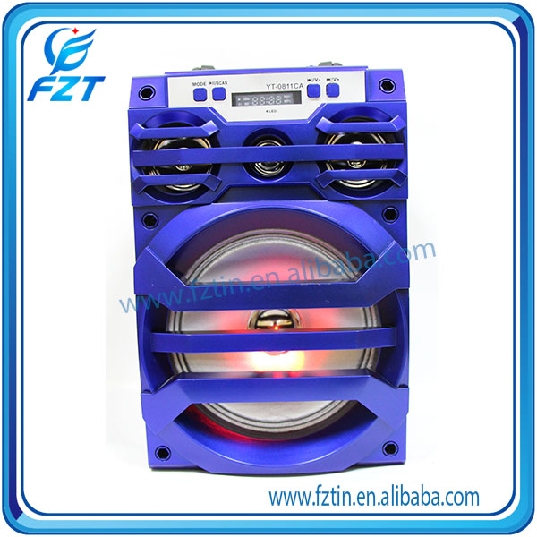 2017 OEM Hot Selling High quality wooden portable speaker dj speaker box with FM USB TF SD