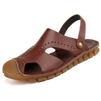 Latest design men's leather sandal
