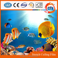 Double sided adhesive PVC wall film roll 1.5meters to 5 meters wide with water&fire-proof quality for bathroom decor