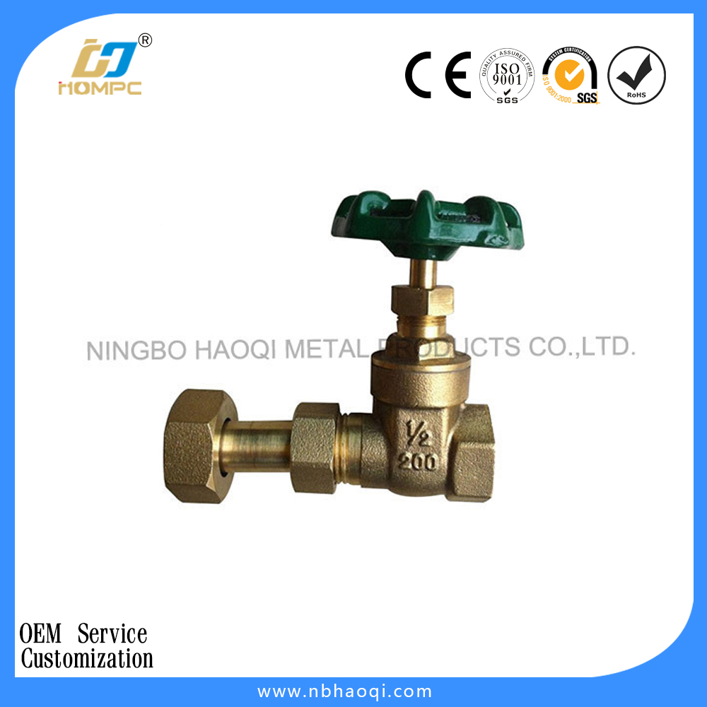 brass complete gas meter gate / stop valve
