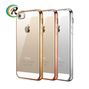 Shenzhen cheap phone electroplate shell for iPhone 5C mobile phone plating silicon case
