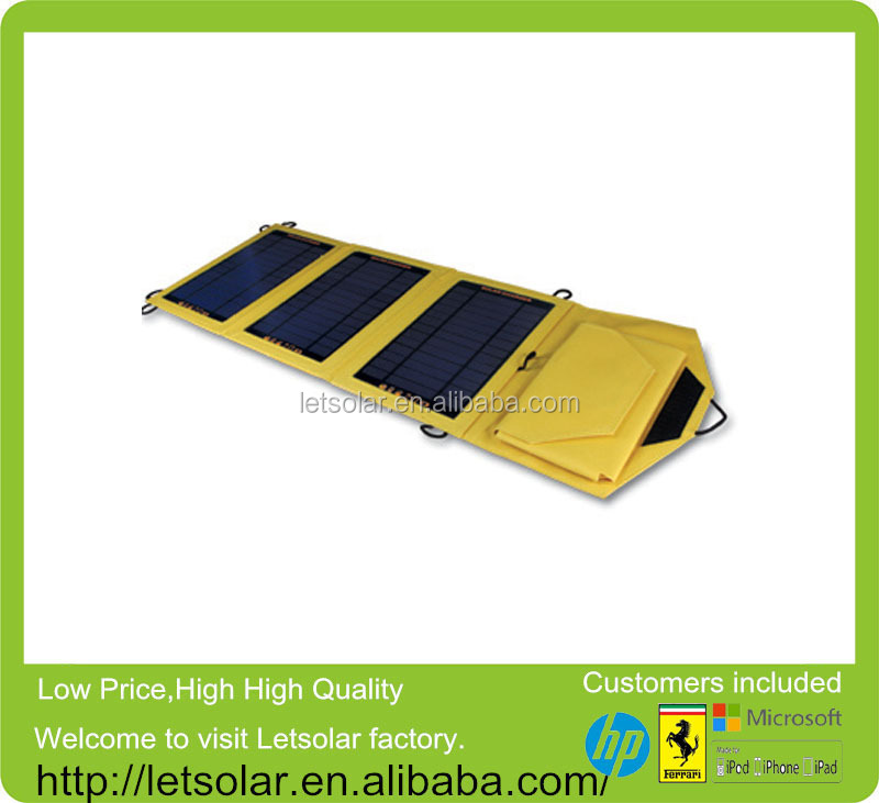 2014 new 5.5V/10.5W solar panel angle calculator for iPhone and iPad directly under the sunshine