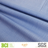yarn dyed cotton twill blue&white check fabric of 50*50/144*80