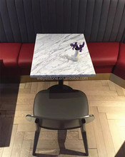 White carrara marble restaurant table top